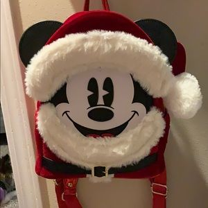Mickey Mouse Santa loungefly backpack!